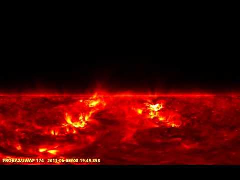 Proba-2 records solar eruption