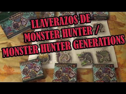 Monster Hunter Generations X - Llaveros vidriera metálicos oficiales! Stainedglass Keychains