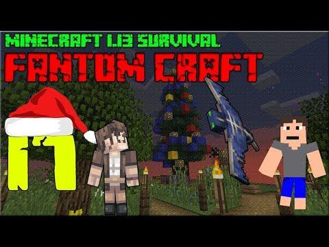 VÁNOČNÍ STROMEČEK/CHRISTMAS TREE! Minecraft survival 1.13.2! #17 |FANTOM CRAFT| /wNeoxitCz