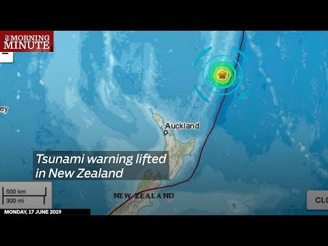 Tsunami warning lifted in New Zealand