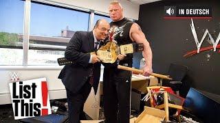 5 vergessene Brock Lesnar Momente - WWE List This! (DEUTSCH)