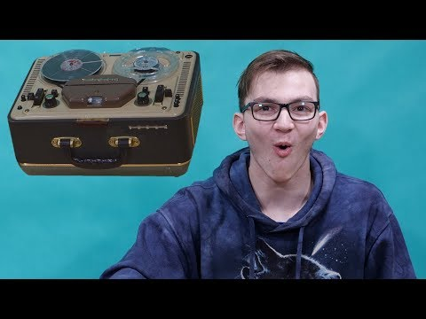 Kids react to Reel-to-Reel Tape Recorder ~ Česky ⁴ᴷ