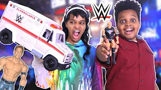 WWE Slambulance Shiloh vs Shasha Competition! - Onyx Kids