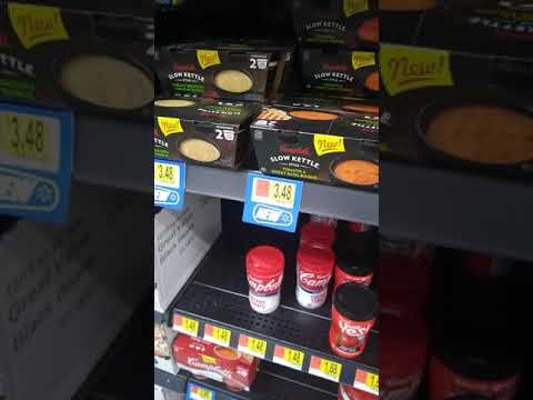 Campbell's microwave soup at Wal-Mart.Project tube