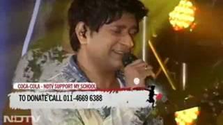 """KK singing """"Tu Aashiqui Hai""""  for NDTV Support My School telethon"""