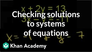 Testing a solution for a system of equations