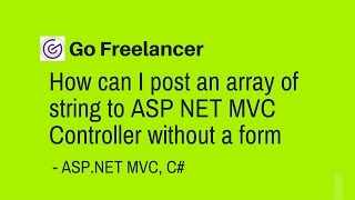 How can I post an array of string to ASP NET MVC Controller without a form