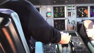[HD] (NEW) A321 Cockpit Takeoff Lufthansa at Frankfurt Airport