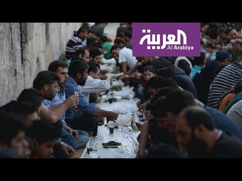 العرب اليوم - موائد الإفطار في إدلب