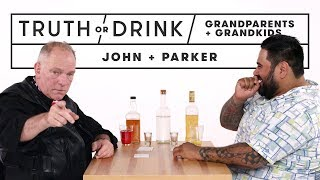 Grandparents & Grandkids Play Truth Or Drink (John & Parker) | Truth Or Drink | Cut