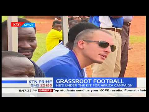 Everton legend Leon Osman is in Kenya courtesy of Kit for Africa campaign