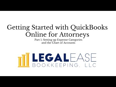 Getting Started with Quickbooks Online for Attorneys-  Video One