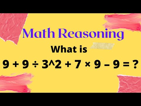 Arithmetic Reasoning Questions with Answers | BODMAS | PEMDAS ...