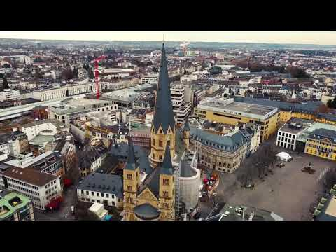 Das Bonner Münster aus der Vogelperspektive