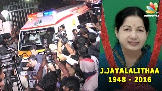 Jayalalithaa Is Dead  CMs Body Brought To Poes Garden From Apollo Hospital  Amma Passed Away