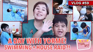 A DAY WITH YORME! SWIMMING + HOUSE RAID?! | Fun Fun Tyang Amy Vlog 59