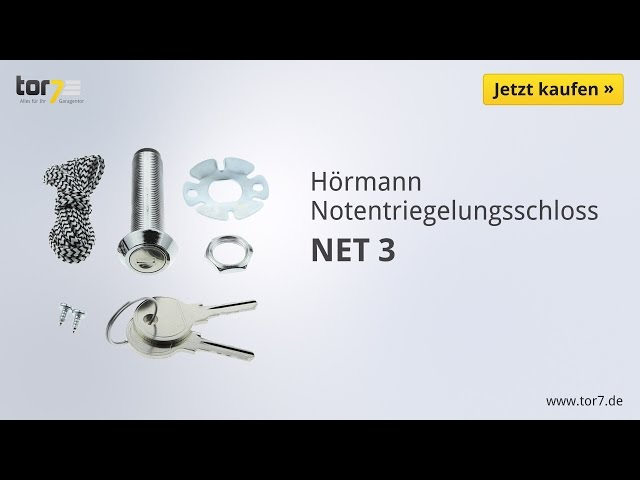 Produktvideo Hörmann Notentriegelungsschloss NET 3