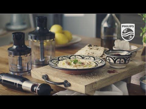 ProMix Hand blender: Homemade hummus featuring XL Chopper and Compact Chopper | Philips