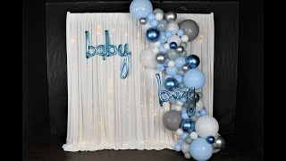 Baby Shower Balloon Garland DIY | How To | Tutorial |Review