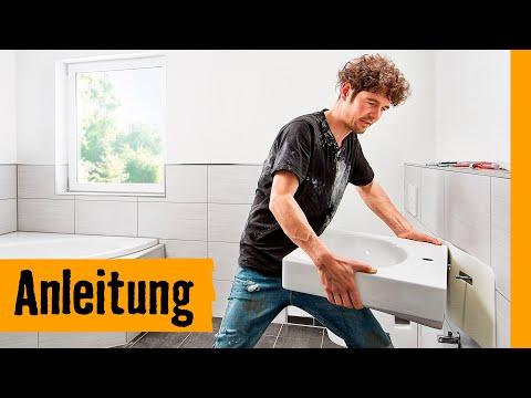 Hänge-Waschbecken einbauen | HORNBACH Meisterschmiede