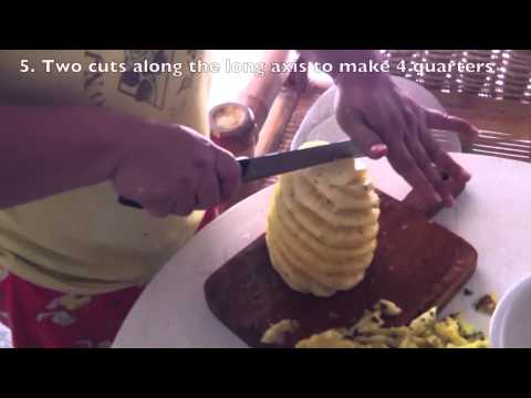 How to cut a Pineapple Filipino Style