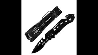 Présentation kit MORPILOT lampe et couteau tactique