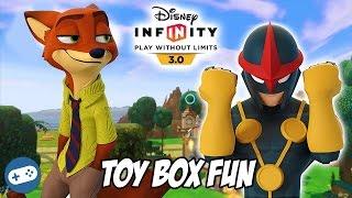 Nick Wilde and Nova Disney Infinity 3.0 Toy Box Fun Gameplay