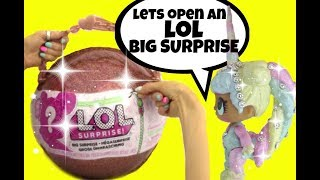 LOL Surprise Dolls open the BIG SURPRISE Ball ~ Blind Bags ~ Doll Story Video by Girly Girlz