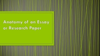 Essay & Research Paper Structure