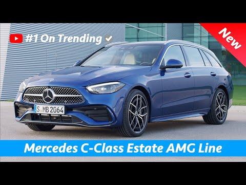 Mercedes C-Class Estate 2022 - FIRST Look Exterior Interior (AMG Line) | Mini S-Class wagon?