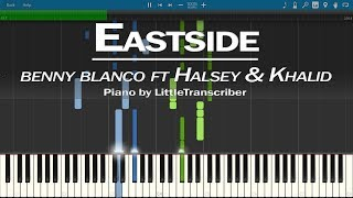 Benny Blanco, Halsey & Khalid   Eastside (Piano Cover) Synthesia Tutorial By LittleTranscriber