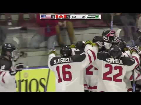 Alex Newhook Shootout Winner for Canada