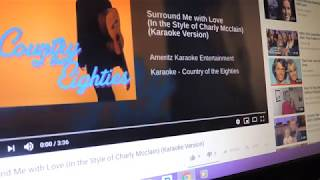 """Karaoke Cover - Charly McClain's """"Surround Me With Love"""" 10-28-2018"""