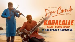 gratis download video - Kadalalle || Dear Comrade || Sitar - Violin Cover || Basavaraj Brothers