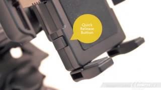 PanaVise Black 15508 Portagrip Phone Holder With 809-amp Suction Cup Mount - Product Tour