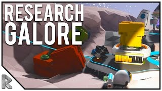 Going to the Moon & Research Galore! - Astroneer #7 (Astroneer Alpha Gameplay)