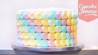 Rainbow Petal Cake Masterclass   Cupcake Jemma