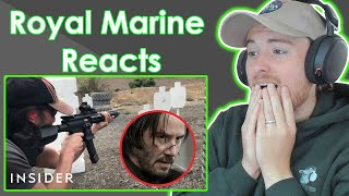Royal Marine Reacts To How Keanu Reeves Learned To Shoot Guns For John Wick - Movies Insider