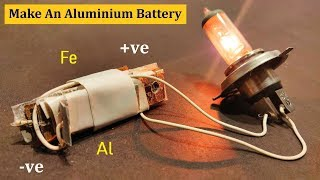 How To Make 5 Volts 1 Amp Dry Battery   Homemade Battery With Aluminium & Iron ( NaCl Battery Cell )