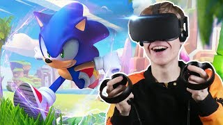 BECOME SONIC THE HEDGEHOG IN VIRTUAL REALITY! | Sonic VR (Oculus Touch Gameplay)
