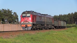 Тепловоз 2ТЭ25КМ-0108 и дизель-поезд ДР1Б-506 / 2TE25KM-0108 and DR1B-506 DMU
