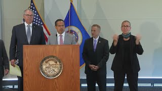 Minnesota AG Keith Ellions & MN Governor Tim Walz presser on protests and arrests
