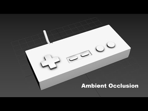 Simple Ambient Occlusion in 3dsMax