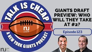 E123: Giants NFL Draft preview: Who will they take at #2?
