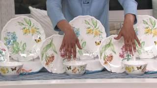 Lenox Butterfly Meadow Melamine 12-piece Dinnerware Set On QVC