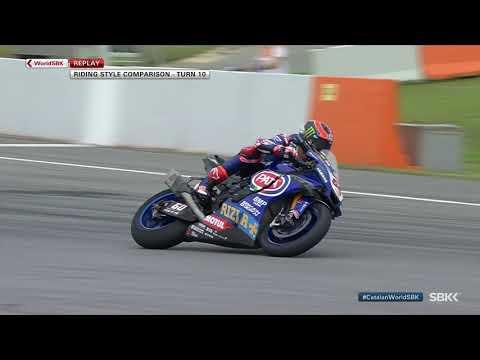 コーナリング中にバイクがスライド!!スーパーバイク世界選手権 SBK 第6戦スペイン(カタルニア・サーキット)ターン10のコーナリングを集めたダイジェスト映像