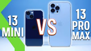 iPhone 13 Pro Max VS iPhone 13 Mini: LA PRUEBA DEFINITIVA