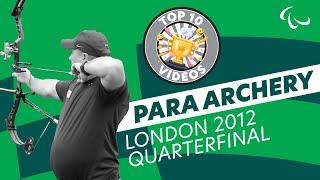 Archery – Stutzman (USA) v Denton (USA) – Men's Ind. Compound Open – London 2012 Paralympics