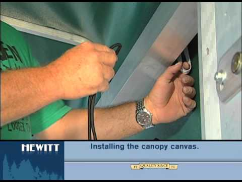 How to Install Canvas onto the Lift Canopy Frame