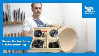 Neues Backenfutter von Holzprofi Austria// Vorstellung// Schale Drechseln